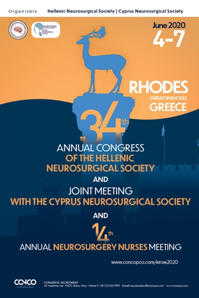34th Annual Congress of the Hellenic Neurosurgical Society and the 14th Annual Neurosurgery Nurses Meeting